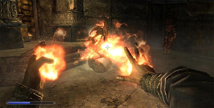Flames skyrim spell