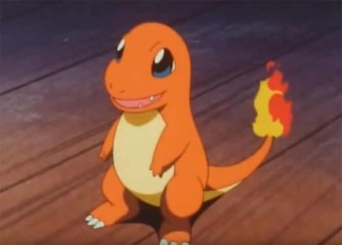 Charmander anime screen