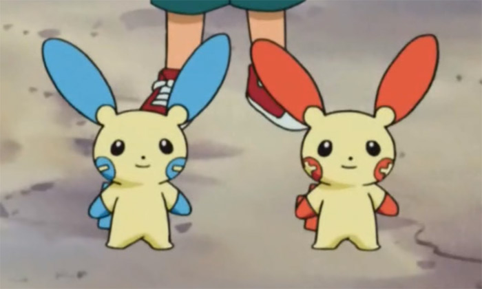 Plusle and minun anime