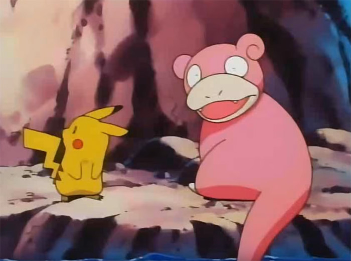 Slowpoke dipping tail in water