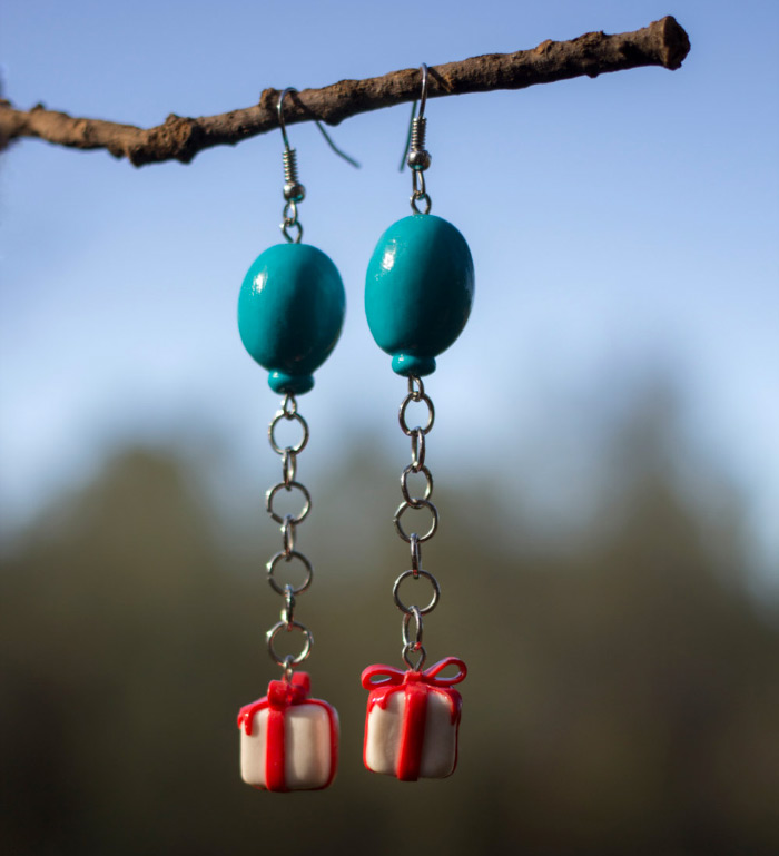 Handmade baloon earrings Animal Crossing