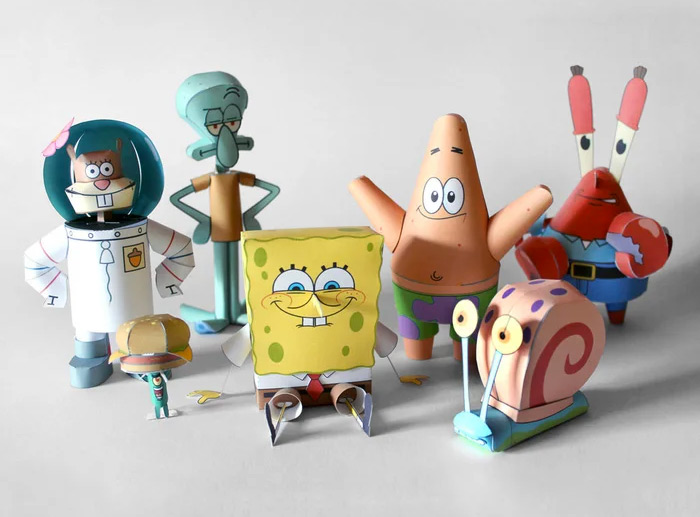 DIY papercrafts for spongebob
