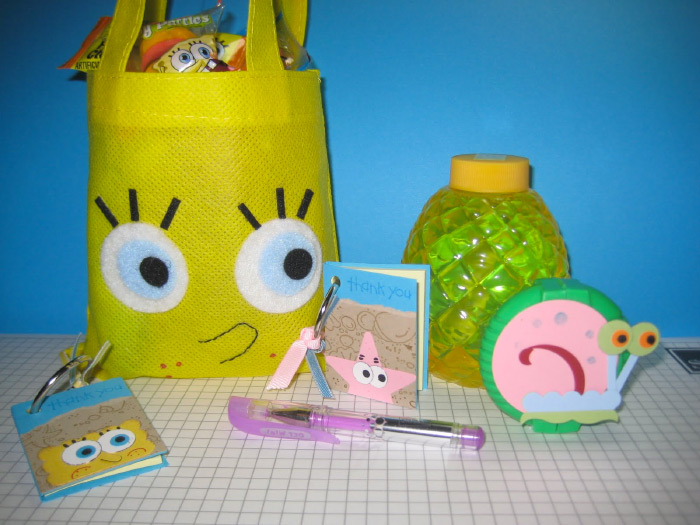 DIY spongebob party favors