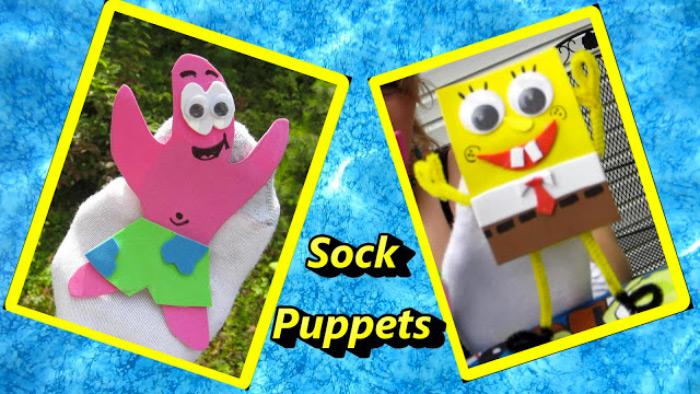 Spongebob sock puppets