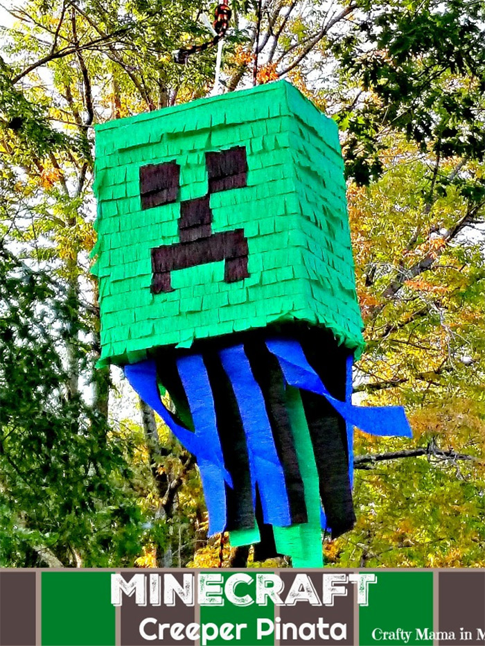 Minecraft creeper pinata diy