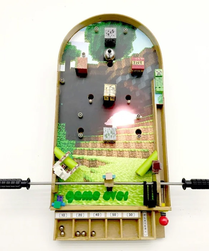 Minecraft pinball diy