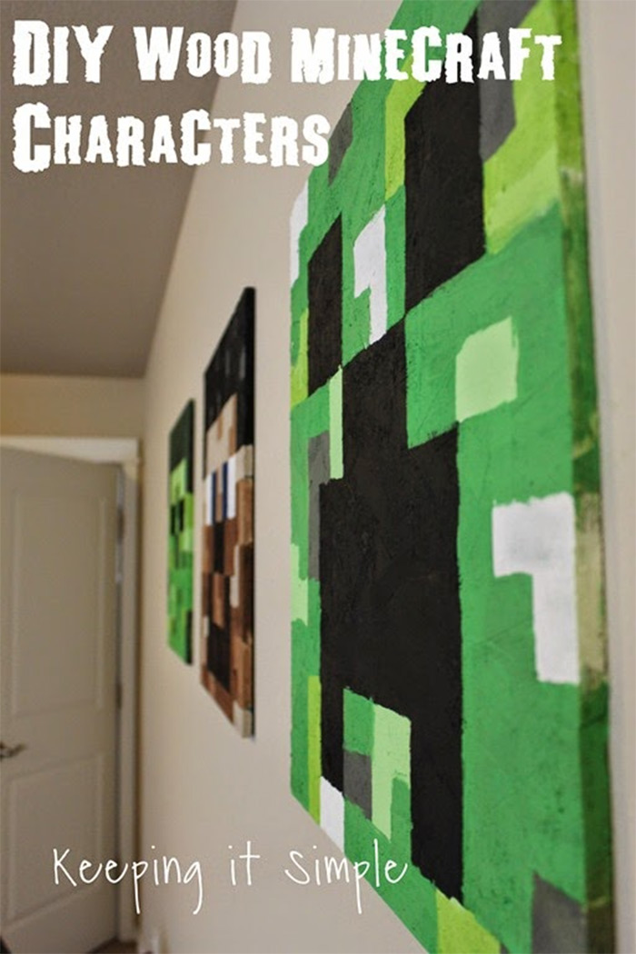 Minecraft wall art handmade