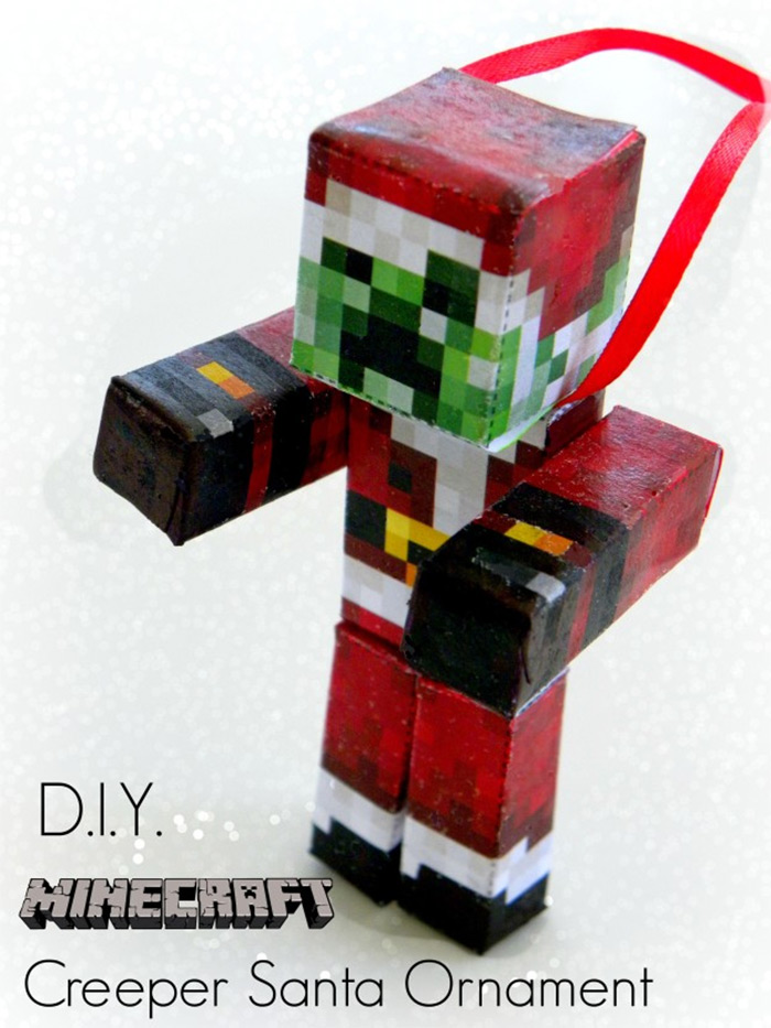 Minecraft christmas ornament diy