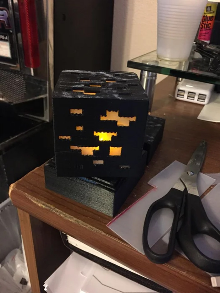 cubed minecraft lamp