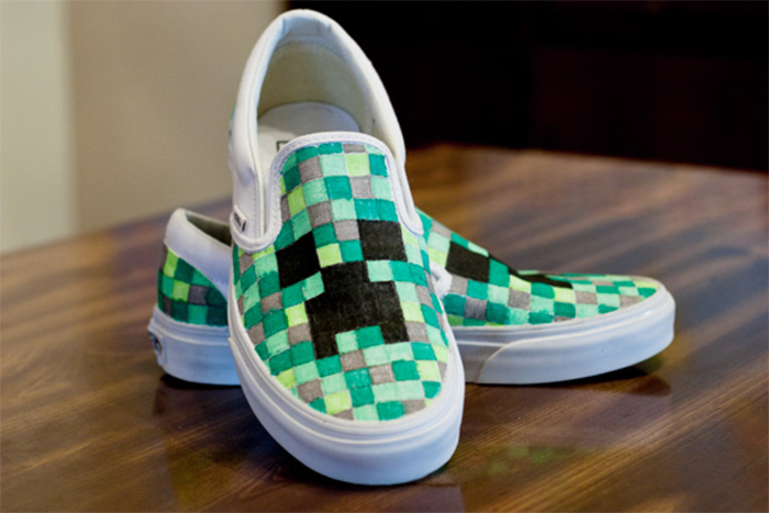 diy minecraft shoe designs