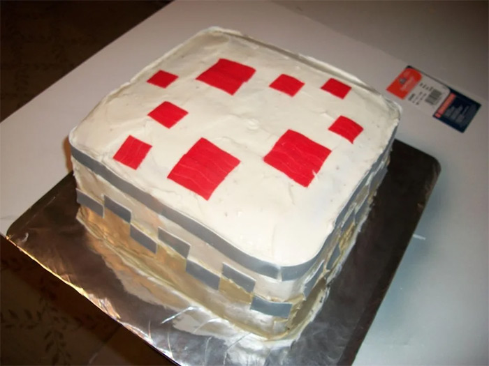 diy minecraft cake