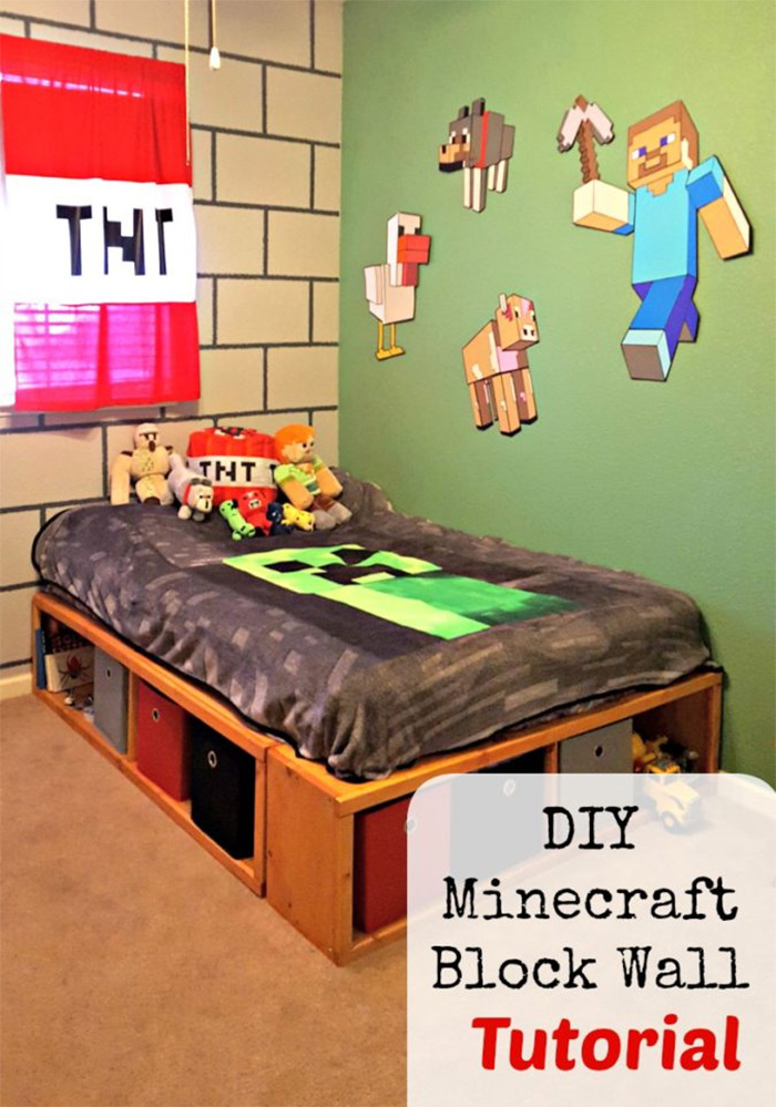 diy minecraft wall design