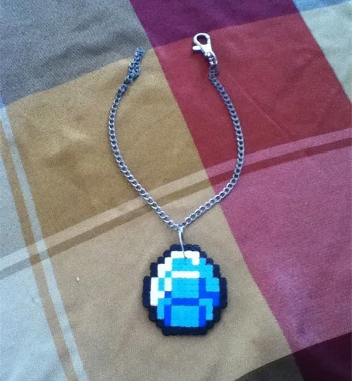 diamond necklace diy minecraft
