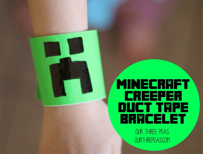 Creeper duct tape bracelet diy