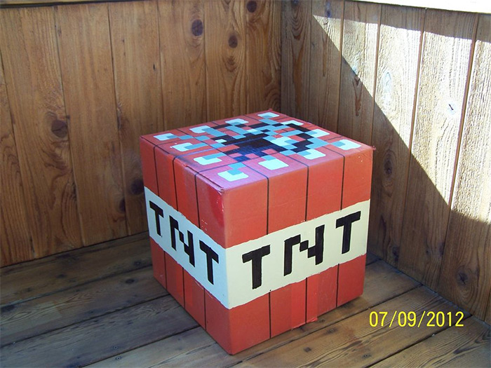 Minecraft tnt box diy