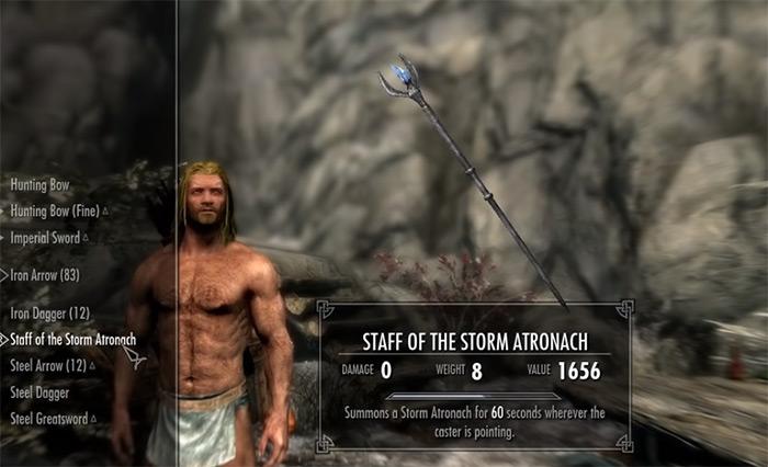 skyrim staff storm atronach