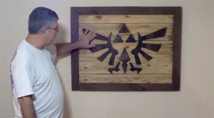 Zelda wood art