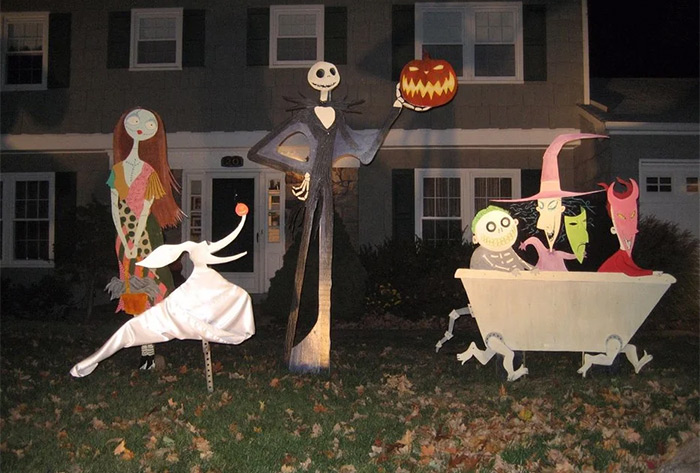 nightmare before xmas lawn decor