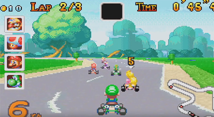 Mario Kart Super Circuit gameplay