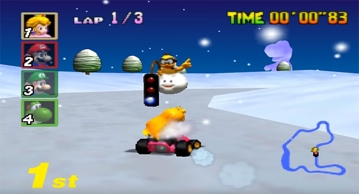 Mario Kart 64 gameplay screenshot