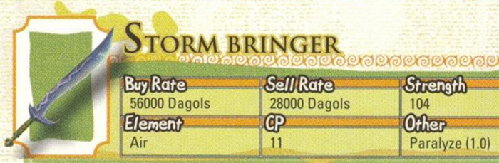 Storm Bringer from Radiata Stories