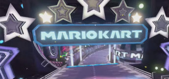 Super Mario Kart Electrodome level sign