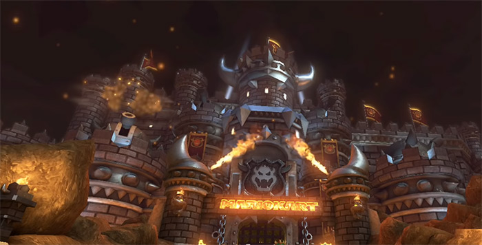 Bowser's Castle mariokart 8