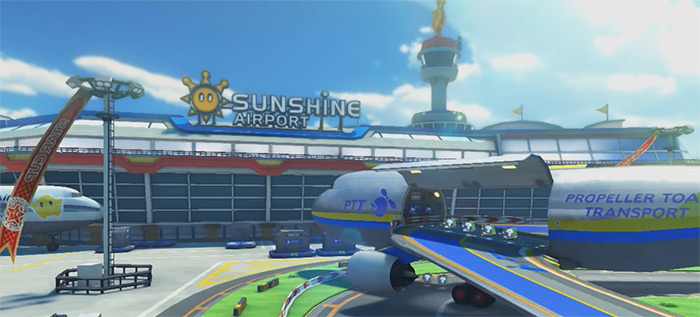 Sunshine Airport preview Mario Kart 8
