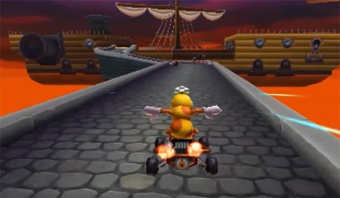 Airship Fortress Mario Kart 8 level