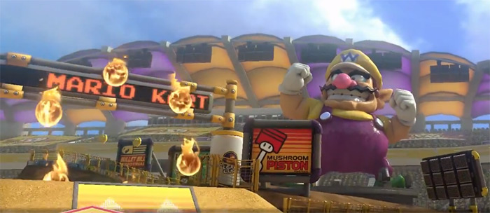 Wario Stadium Mario Kart