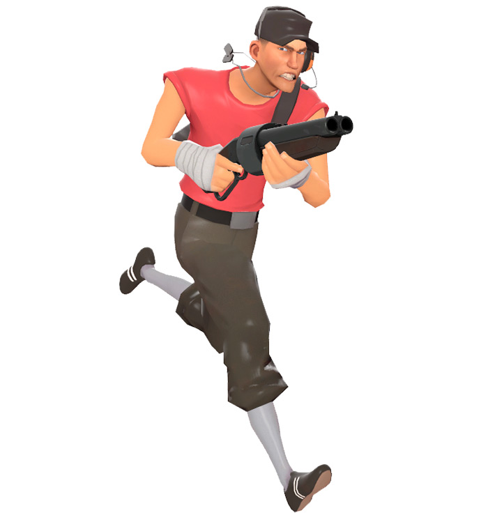 Scout model from TF2