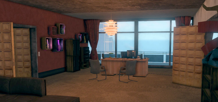Interior screenshot - Saints Row HQ crib