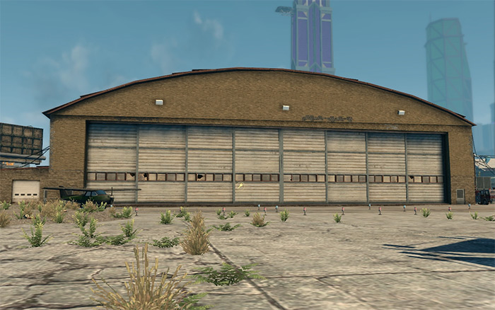 Airplane Hangar in Saints Row 3