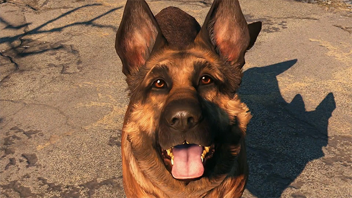 Dogmeat friendly dog companion
