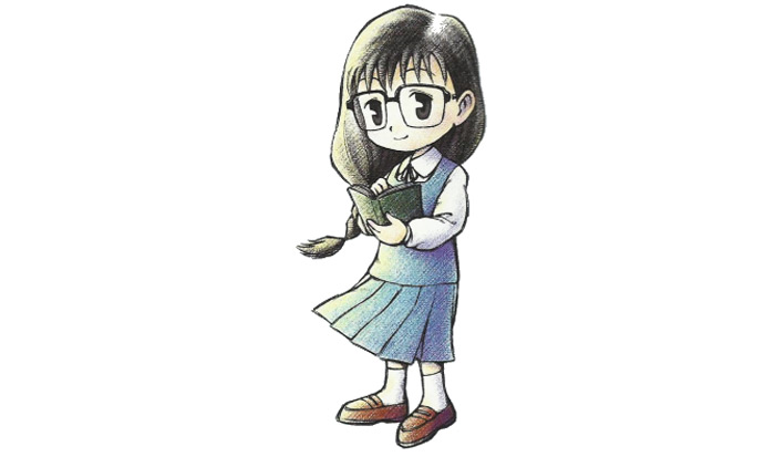 Mary librarian wife from Harvest Moon Back To Nature