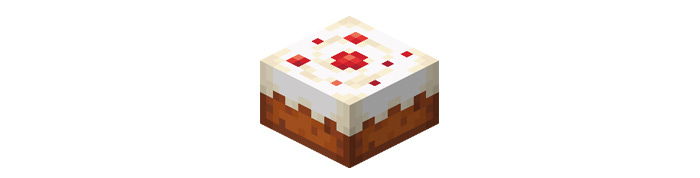 Cake baked in Minecraft