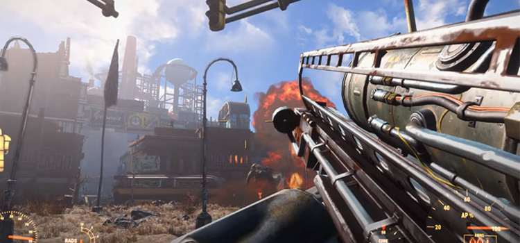 Heavy weapon battles in Fallout 4