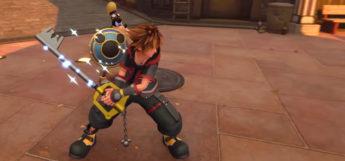 Sora weilding a keyblade