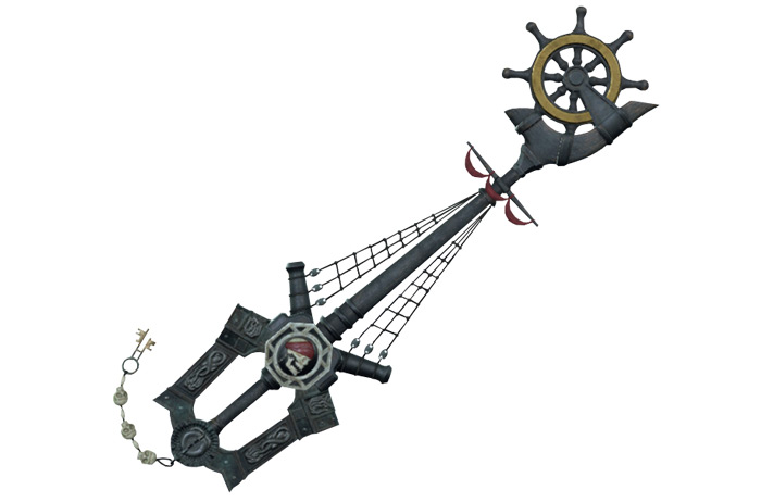 Wheel of Fate Pirates Keyblade in KH3