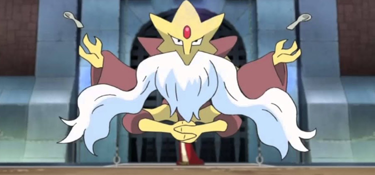 Mega Alakazam pokemon floating in the anime