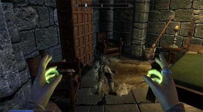 paralyze spell in Skyrim
