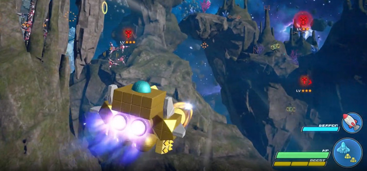 KH3 flying in the golden gummi ship