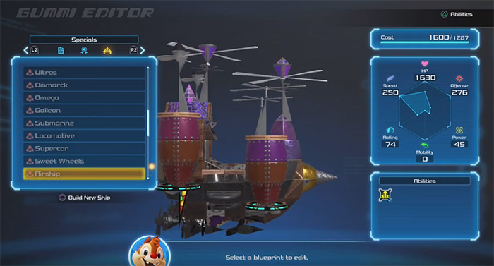Airship gummi design from kh3
