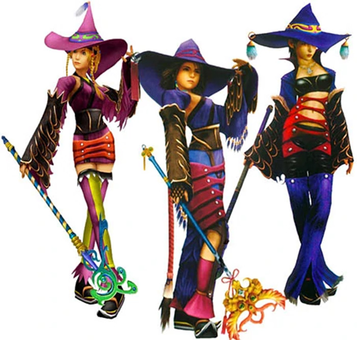 Black Mage costume in ffx2