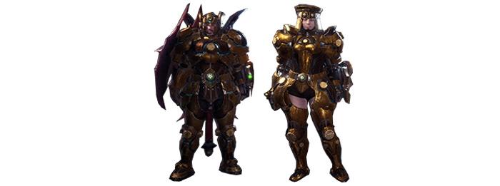Uragaan armor set in MHW