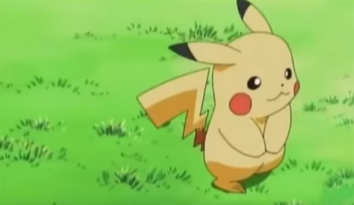 Pikachu in the anime