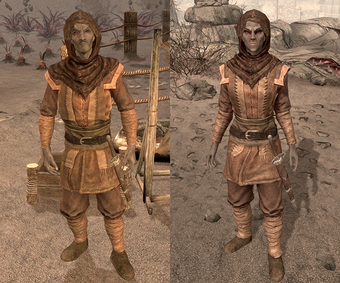 Dunmer outfits in skyrim