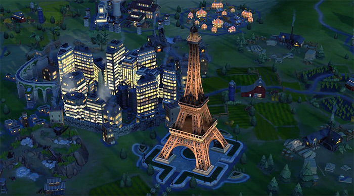 Eiffel Tower in Civ6