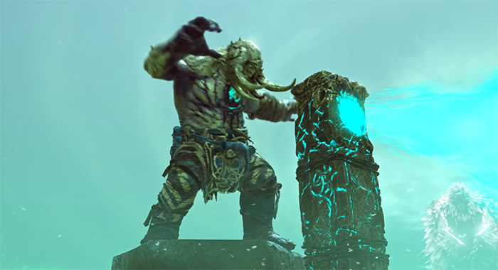 Hellheim Bridge Keeper boss in GoW