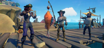 Fishing at the docks - sea of thieves